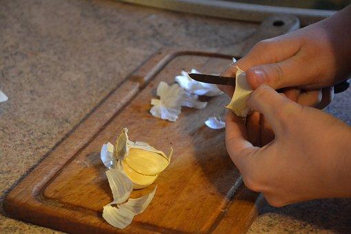 Garlic, Peel, Kitchen, Spice, Główkowaty