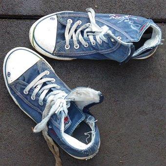 Shoes, Sneakers, Canvas Shoes, Blue, Sport