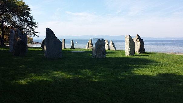 Stonehenge, Vermont, Stone Art, Stone, Lake Champlain
