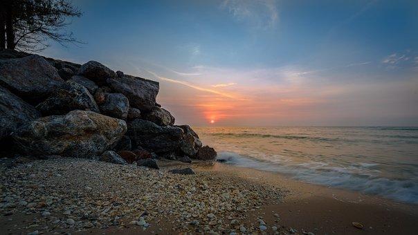 Sunrise, Beach, Thailand, Ocean, Coast, Water, Tropical