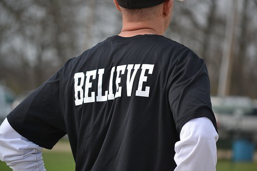 Believe, Back, Man, Male, Wearing, Inspiration, Team