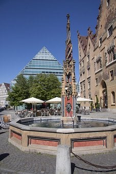 Ulm, Town Hall, Live Well, Library, City