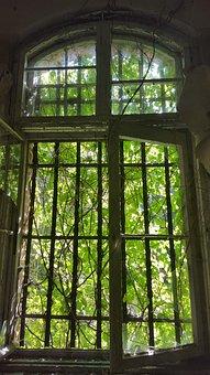 Urbex, Window, Beelitz Heilstätten, Hospital, Abandoned