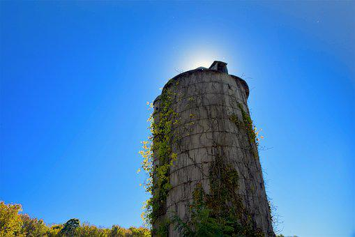 Silo, Old, Rural, Farm, Abandoned, Broken, Architecture