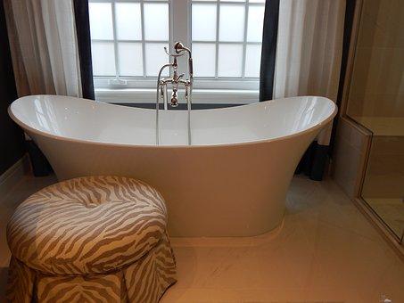 Bathtub, Tub, Bath, Bathroom, Home, White, Interior
