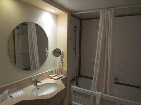 Bathroom, Mirror, Bathroom Mirror With Lights, Interior