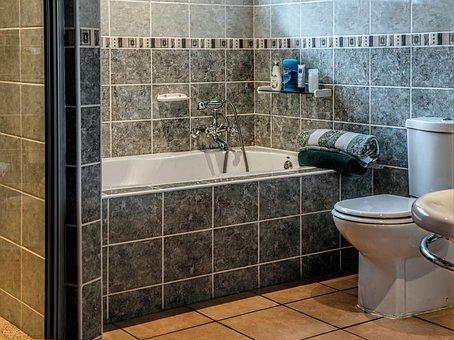 Bathroom, Bath, Tub, Toilet, Bathtub, Towel, Clean