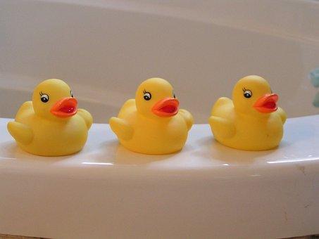 Rubber Duckies, Yellow, Ducky, Ducks, Toys, Bathtub