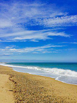 Beach, Sky, Sea, Rhode Island, Summer, Ocean, Blue