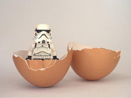 Stormtrooper, Lego, Egg, Hatch, Hatched, Begin