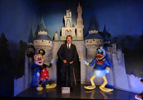 Walt Disney, Cartoonist, Mickey Mouse, Tableau, Scene