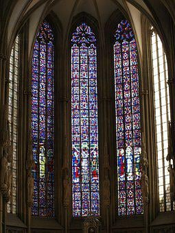 Church Window, Cathedral, Leaded Glass, Stained Glass
