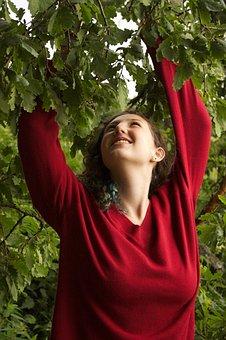 Nature, Trees, Joy, Happiness, Caucasian, Little