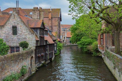 Bruges, Channel, Belgium, Romantic, Old Town, Idyllic