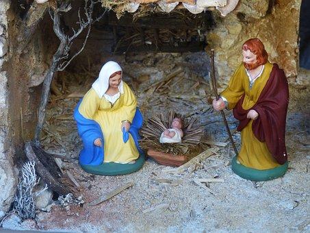 Christmas, Crib, Nativity Scene, Father Christmas