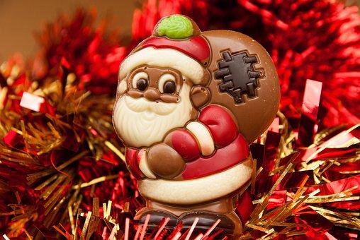 Father Christmas, Christmas, Chocolate, Tinsel