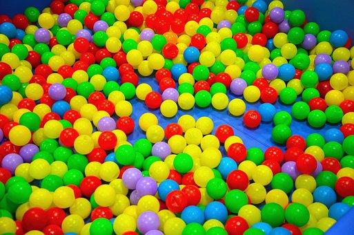 Balls, Colors, Colored Ball, Games, Kids, Bathtub
