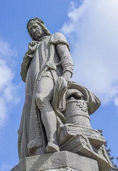 Jacob Van Maerlant, Statue, Stone Carving, Damme Bruges