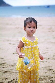 Child, Beach, Daughter, Family, Girl, Kid, Childhood