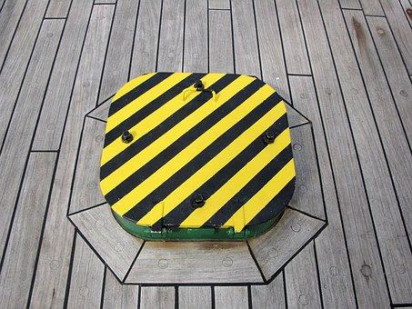 Hatch, Deck, Ship, Vessel, Danger, Wood, Decking