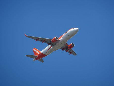 Aircraft, Close Up, Detail, Start, Wing, Easy Jet
