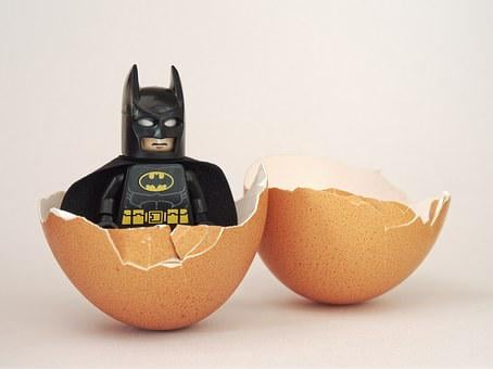 Batman, Lego, Egg, Hatch, Hatched, Begin, Beginning