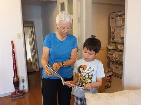 Grandma, Reading, Grandmother, Senior, Elderly, People
