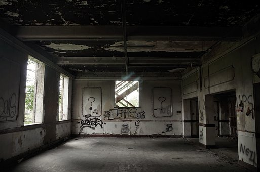 Abandoned, Industrial, Bu, Industry, Building, Factory
