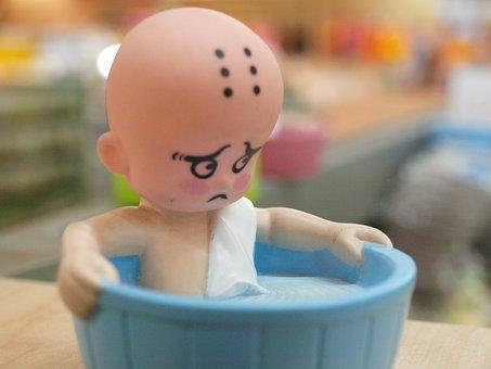 Toy, Figure, Sad, Bathtub, Macro, Miniature, Water
