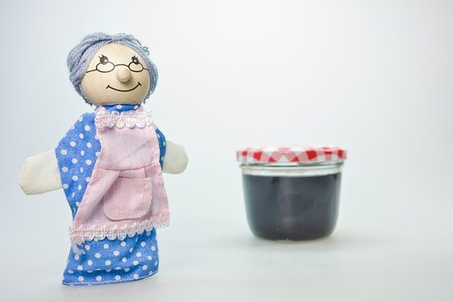 Doll, Grandma, Children Toys, Wood, Play, Nostalgia