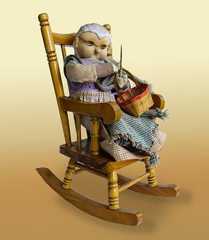 Grandma, Grandmother, Crochet, Knit, Rocking Chair