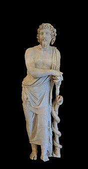 Asclepius, Statue, Greece, Ancient, Sculpture