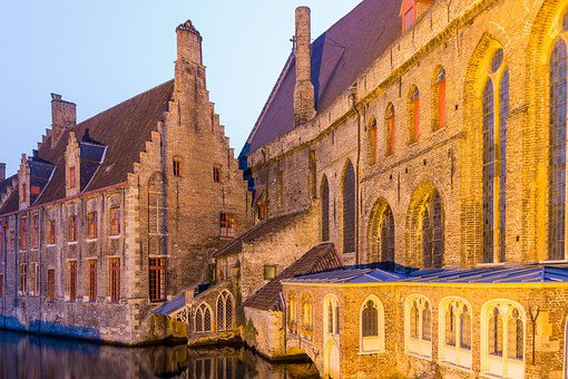 Bruges, Old Town, Night Photograph, Historically