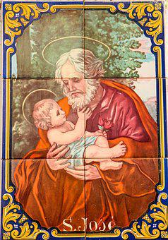 Father Christmas, Peter, Tile, Holy, Christmas Card
