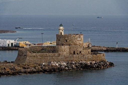 Greece, Rhodes, Castle, City, Houses, Fortress
