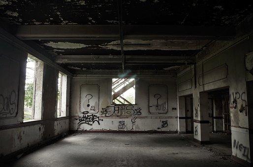 Abandoned, Industrial, Bu, Industry, Building, Factory