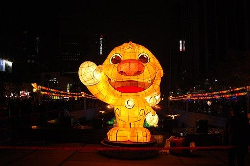 Lantern, Cheonggyecheon Stream, Isometric Article
