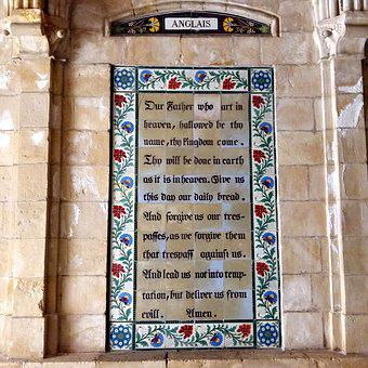 Lord's Prayer, Paternoster Church, Jerusalem