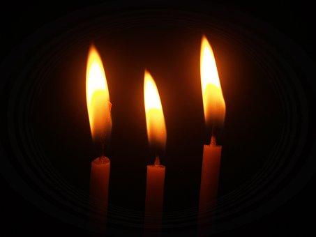 Flame, Church, Wax, Light, Beam, Closeup, Ceremony