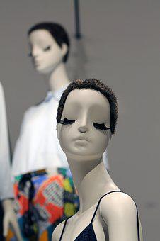 Mannequin, Female, Lashes, Eye Lashes, Dummy, Style