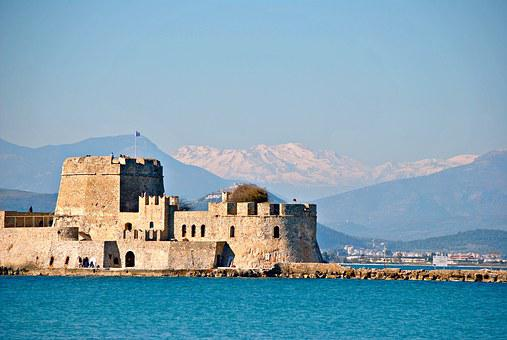 Castle, Greece, Nafplion, Architecture, Mediterranean