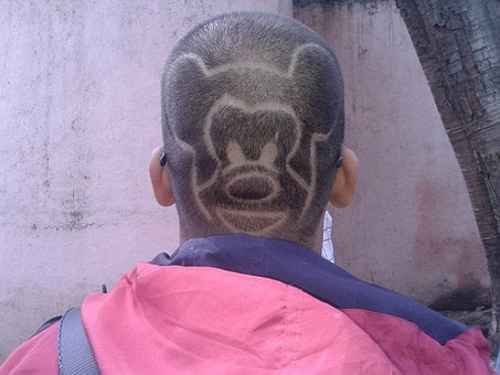 Mickey Mouse, Hair Style, Trimmed Hair, Design, Artwork
