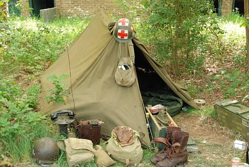 Second World War, War, Army, Military, Soldier, Tent
