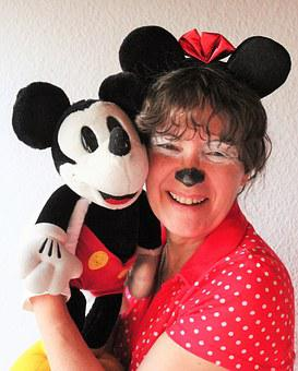 Carnival, Minnie And Mickey, Micky Mouse, Sweet