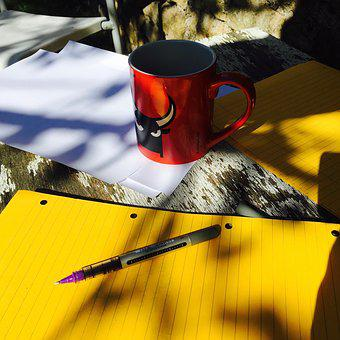 Writing, Take A Break, Coffee, Notes, Paper, Outdoors