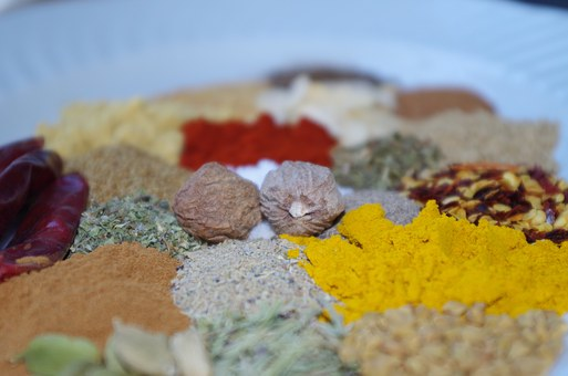Pepper, Nutmeg, Colorful, Cooking, Paprika