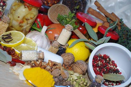 Pepper, Colorful, Cooking, Turmeric, Vegetables, Nutmeg