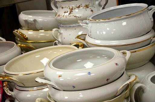 Gold Trim Dinnerware, Tureens, Tureen, Old