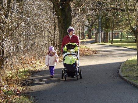 Walk, Grandma, Adelka, Baby Girl, Child, Paths