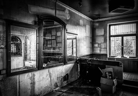 Lost Places, Pforphoto, Pub, Bar, Mirror, Leave, Decay